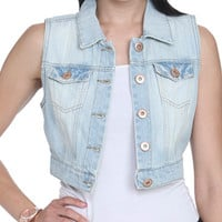 Denim Vest | Shop Americana at Wet Seal