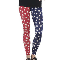 Americana Star Leggings | Shop Americana at Wet Seal