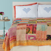 Patchwork, Present, and Future Quilt | Mod Retro Vintage Decor Accessories | ModCloth.com