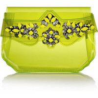Shourouk | Crystal-embellished PVC clutch