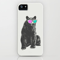 3D is Un-bear-able  iPhone & iPod Case by Zeke Tucker