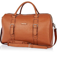 Brown RI embossed weekend bag - make up bags / luggage - bags / purses - women