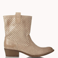 Perforated Western Booties | FOREVER 21 - 2059067911