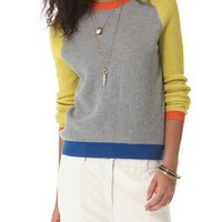 Cut25 by Yigal Azrouel Waffle Knit Block Sweater | SHOPBOP
