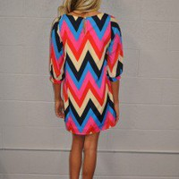 Summer Night Chevron Dress