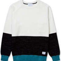 Ivory Colorblock Knit