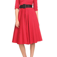 Hell Bunny Red Polka Dot Swing Dress | Hot Topic