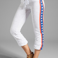 Wildfox Couture Sir Yes Sir Skinny Terry Sweats in Clean White from REVOLVEclothing.com