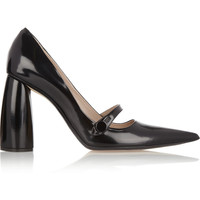 Marc Jacobs | Glossed-leather Mary Jane pumps | NET-A-PORTER.COM