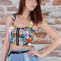 Cartoon Print Bralet from missbehaver