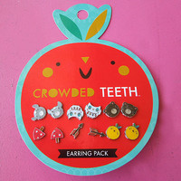 JapanLA - Crowded Teeth Orange Earring Pack