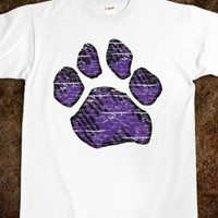 Paw - Purple (worn) - Paw Print - Skreened T-shirts, Organic Shirts, Hoodies, Kids Tees, Baby One-Pieces and Tote Bags