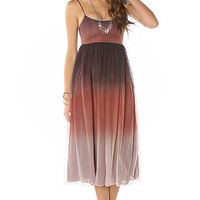 Motel Rocks Dress Mid-length Ombre Rust
