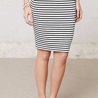 Stacked Stripes Ponte Skirt