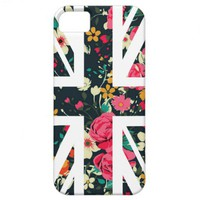 Dark Vintage Rose Union Jack British(UK) Flag iPhone 5 Case from Zazzle.com