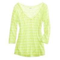 Aerie Pretty Striped Chiffon Tee | Aerie for American Eagle