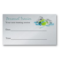 Personal Trainer business card from Zazzle.com