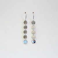 Silver dot earrings, Hypo-allergenic earrings, Wedding jewelry, Bridesmaid gift, Simple everyday jewelry