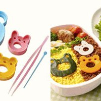 Cute Animal Sandwich And Food Cutters Frog Panda Rabbit Bear