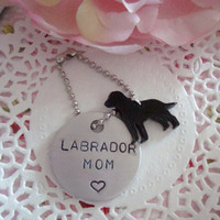 Labrador Mom Hand Stamped Keychain Made To Order