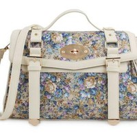 Floral Print Vintage Cambridge Satchel