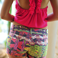 Such An Artist Shorts: Dark Grey/Multi | Hope's