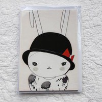 Fifi Lapin &amp;mdash; Black and Red Postcards