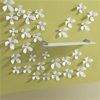  22 flowers for your wall in white or steel