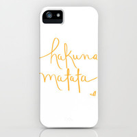 hakuna matata iPhone & iPod Case by Anelise Salvo