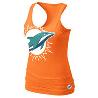 Miami Dolphins Women's Orange Nike Big Logo Tri-Blend Tank Top