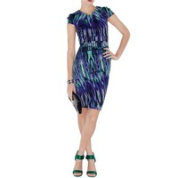 Bqueen Bodycon Marble Print Dress K096E - Designer Shoes|Bqueenshoes.com