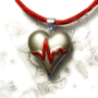 ECG heart pendant Heart disease awareness necklace by UraniaArt
