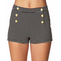 High-Waisted Sailor Shorts