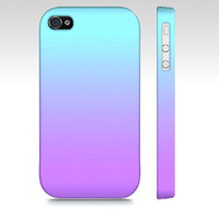 Purple & Blue Ombre - Premium Slim Fit Iphone 4 - Iphone 4s Case - Also Available For Iphone 5 and Samsung Galaxy S3