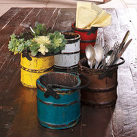 Barilotto Vintage Buckets - Decorative - Organizational Items - Home & Garden - NapaStyle
