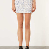 MOTO Blossom Print Mini Skirt - Skirts  - Clothing