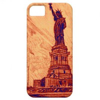 Statue of Liberty Island New York City Vintage iPhone 5 Cover from Zazzle.com