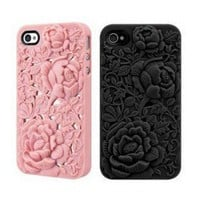 SwitchEasy Silicone Rose Embossing Case/Cover for iPhone 4/4S  - Rose iPhone 4/4S Case - Pink: Cell Phones & Accessories