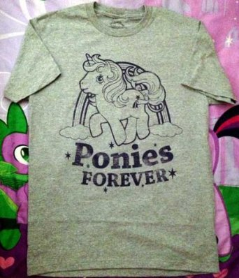 "Amazon.com: My Little Pony ""Ponies Forever"" Men's Brony T-Shirt (M): Sports & Outdoors"