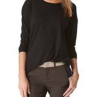 Vince Side Slit Crew Top | SHOPBOP