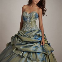 Popular Deep Sweetheart Natural Waist Ball Gown Quinceanera Dress QD089