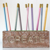 Desk organizer for pencils brushes and by DesignAtelierArticle