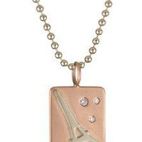 Heather B. Moore &quot;Fun Stamps&quot; Silver and 14k Gold Pendant Necklace