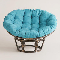 Porcelain Micro Suede Papasan Chair Cushion - World Market