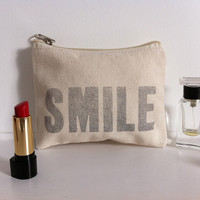 Put On Your Lippy &amp; SMILE Letterpress by LittleRedPressLondon
