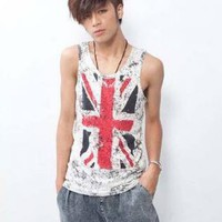 Slim Union Jack Vest for Men