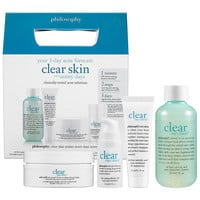 Sephora: Philosophy : Clear Days Ahead™ 30-Day Acne Trial Kit : skin-care-sets-travel-value