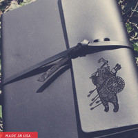 BATTLE BEAR MEDIUM LEATHER NOTEBOOK | OLAN ROGERS