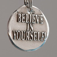 Believe in yourself Inspirational Quote on Fine by CharmsMaker