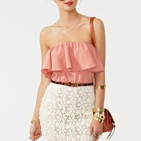 Ruffled Crochet Dress